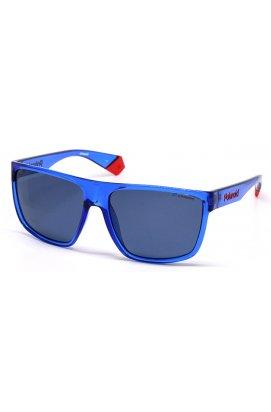Мужские солнцезащитные очки Polaroid PLD6076-PJP-C3 - wayfarer, Цвет линз - серый;сини