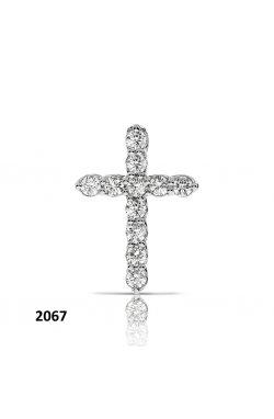Кулон из белого золота с бриллиантами (1696107)