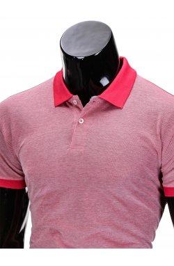 Футболка-поло мужская P847 - розовый