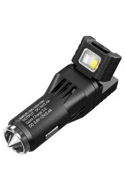 2 в 1 - Фонарь от прикуривателя + автомобильное зарядное устройство Nitecor