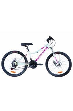 """Велосипед 24"""" Formula ACID 1.0 DD 2019 (бело-малиновый с голубым)"""