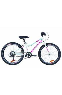 """Велосипед 24"""" Formula ACID 1.0 rigid 2019 (бело-малиновый с голубым)"""