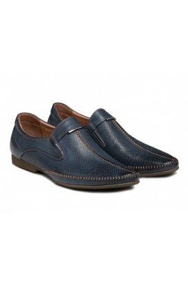 Туфли мужские Carlo Delari 7162004 цвет тёмно-синий, кожа