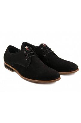 Туфли мужские Clemento 7153605 цвет черный, кожа, кожа-нубук