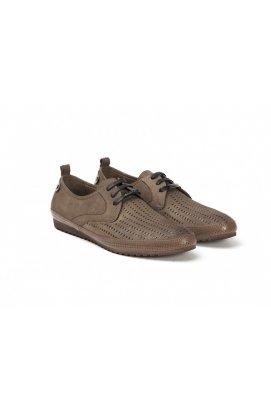 Туфли мужские Roberto Paulo 7142565 цвет коричневый, кожа-нубук