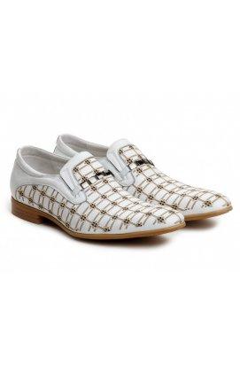 Туфли мужские Roberto Paulo 7122695 цвет белый, кожа