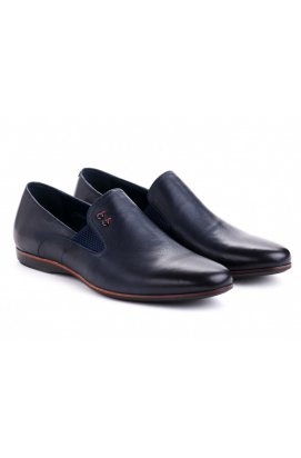 Туфли мужские Carlo Delari 7161305 цвет тёмно-синий, кожа