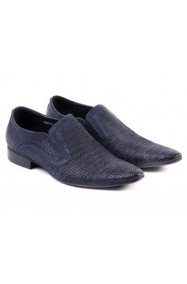 Туфли мужские Carlo Delari 7142205 цвет тёмно-синий, кожа-нубук