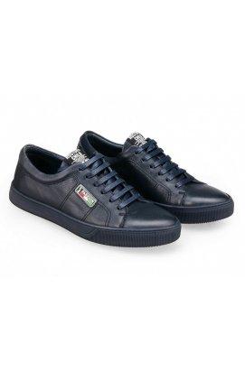 Туфли мужские Carlo Delari 7181132 цвет тёмно-синий, кожа