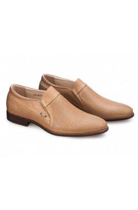 Туфли мужские Carlo Delari 7182063 цвет бежевый, кожа