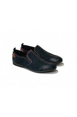 Мокасины мужские Carlo Delari 7141059 цвет тёмно-синий, кожа-нубук