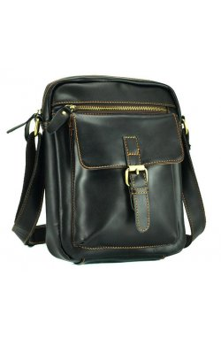 Черный кожаный мессенджер Tiding Bag NM15-1783A-1