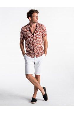 Рубашка мужская K480 - ceglasta