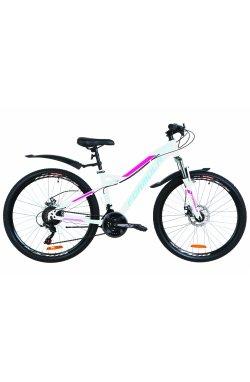 """Велосипед 26"""" Formula ELECTRA DD 2019 (бело-розовый с голубым)"""
