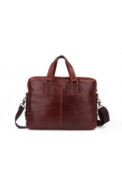 Мужская кожаная сумка для ноутбука JD7162В John McDee