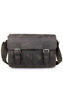 Мужская кожаная сумка мессенджер из натуральной кожи JD6002R John McDee