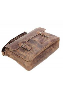 Мужская кожаная сумка через плечо JD6002LR John McDee