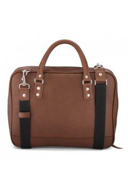 Деловая коричневая мужская кожаная сумка-портфель LC601 LIMARY