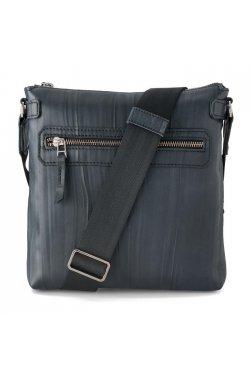 Стильная мужская кожаная сумка на плечо синего цвета LN101 LIMARY