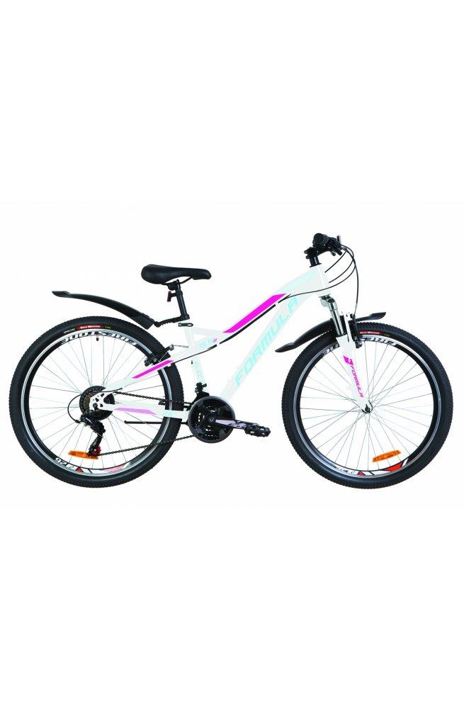 """Велосипед 26"""" Formula ELECTRA 2019 (бело-розовый с голубым)"""