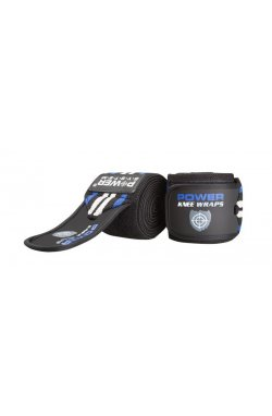 Бинты на колени Power System Knee Wraps PS-3700 Blue/Black