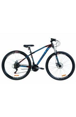 """Велосипед 29 """"Formula DRAGONFLY DD 2019 (чорно-червоний з синім)"""
