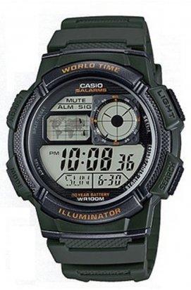 Часы Casio AE-1000W-3AVEF мужские наручные Япония