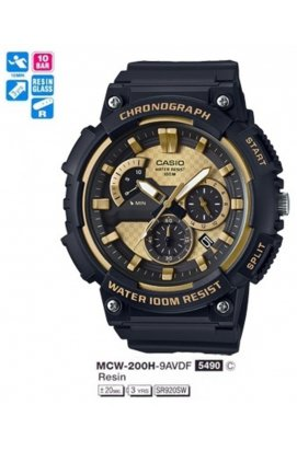 Часы Casio MCW-200H-9AVEF мужские наручные Япония