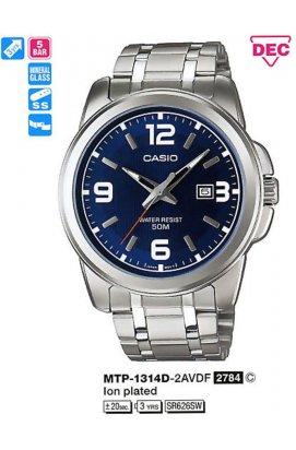 Часы Casio MTP-1314D-2AVDF мужские наручные Япония