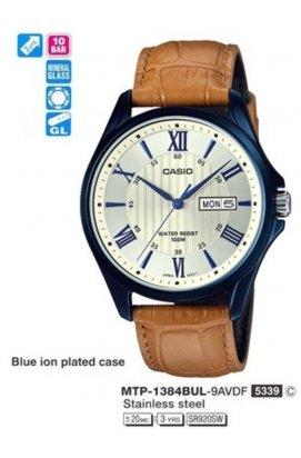Часы Casio MTP-1384BUL-9A мужские наручные Япония