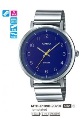 Часы Casio MTP-E139D-2B мужские наручные Япония