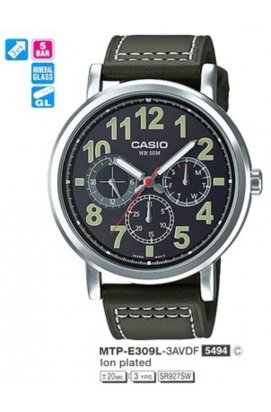 Часы Casio MTP-E309L-3AVDF мужские наручные Япония