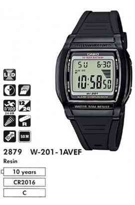 Часы Casio W-201-1AVEF мужские наручные Япония