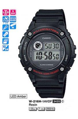 Часы Casio W-216H-1AVEF мужские наручные Япония