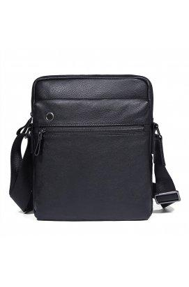 Компактная мужская кожаная сумка на плечо JD1045A John McDee Черный