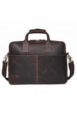 Вместительная мужская кожаная сумка-портфель tid7382R Tiding