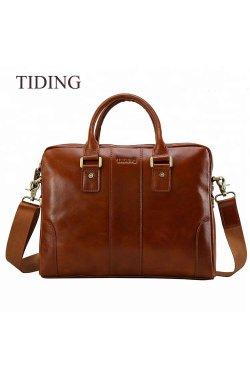 Мужская сумка-портфель из натуральной кожи tid1046 Tiding