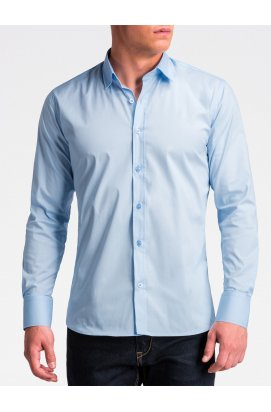 Рубашка мужская R504 - светло - голубой