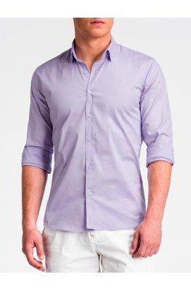 Рубашка мужская R504 - lilac