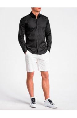 Koszula męska regular z długim rękawem K505 - Черный