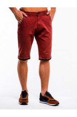Krótkie spodenki męskie chino W150 - Красный