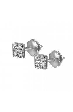 Серьги из белого золота с бриллиантами (1698544)