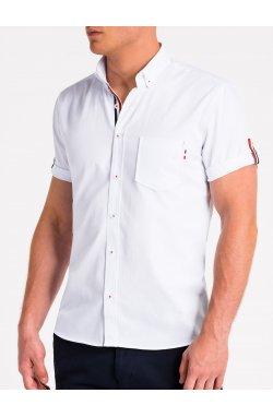 Рубашка мужская с коротким рукавом K489 - Белый