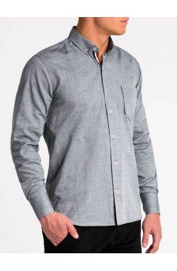 Рубашка мужская K490 - Серый
