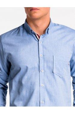 Рубашка мужская K490 - niebieska