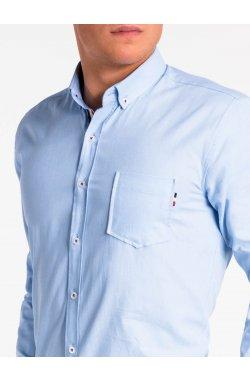 Рубашка мужская K490 - Голубой