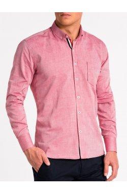 Рубашка мужская K490 - Красный
