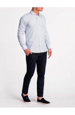 Рубашка мужская K479 - Белый/Красный