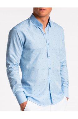 Рубашка мужская K465 - błękitny/Синий