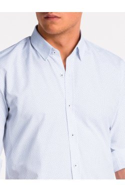 Рубашка мужская K468 - Белый/Синий